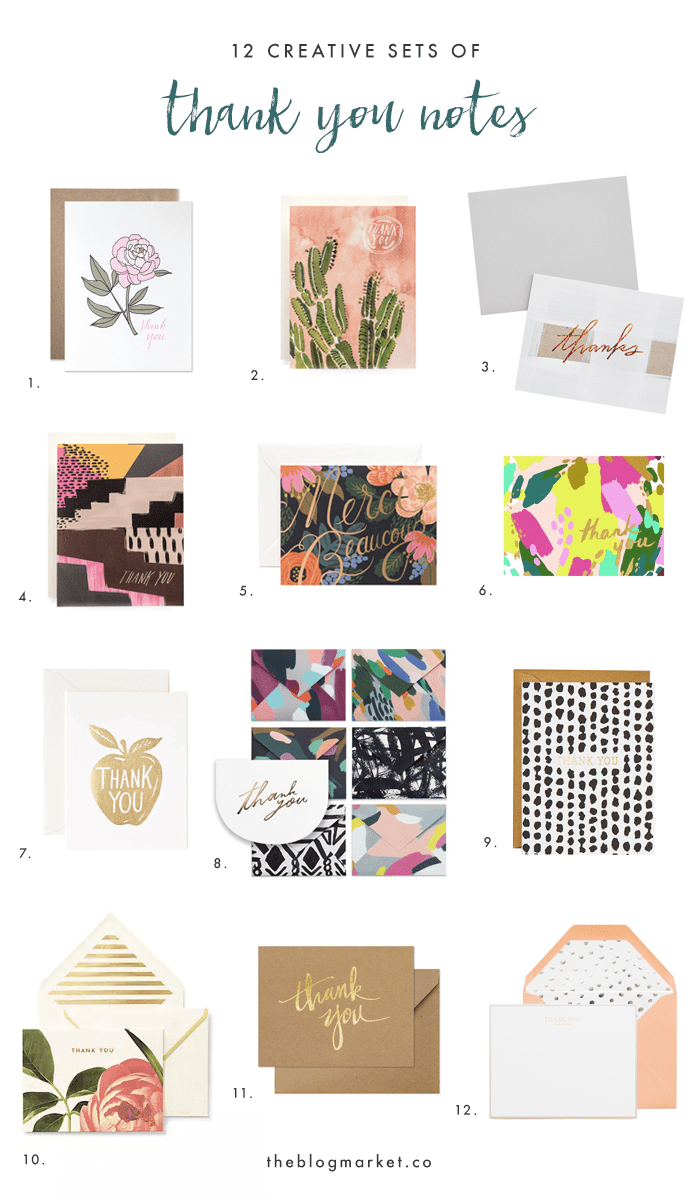 Creative Thank You Notes To Send To Friends & Clients | The Blog Market