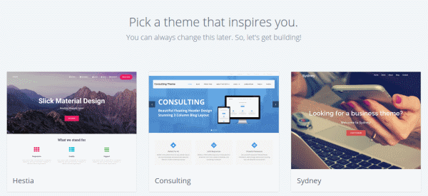 choose wordpress theme - Beginners Guide- Setting up a Blog Using Bluehost Hosting