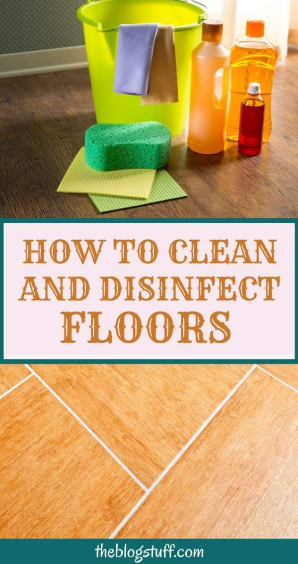 how to clean and disinfect floors