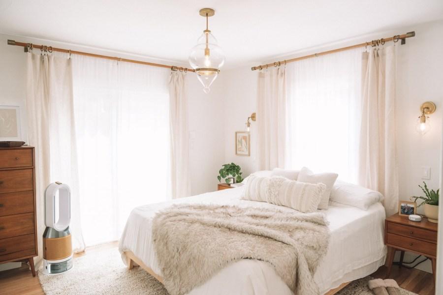 boho modern main bedroom