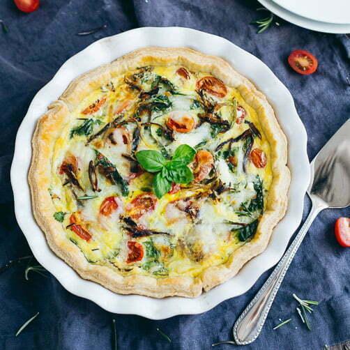 Spinach, Tomato & Shallot Quiche
