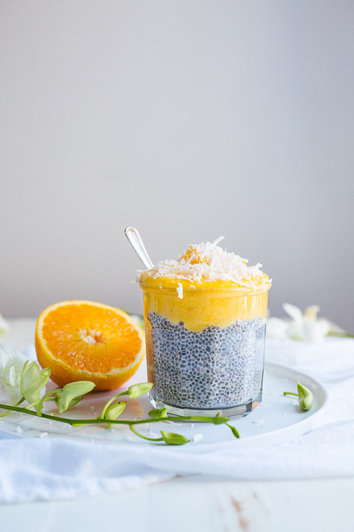 Chia Seed Pudding With Mango Curd (Using Fresh Mangoes)