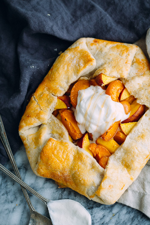 Summer Fruit Galette (with apricot and nectarine)