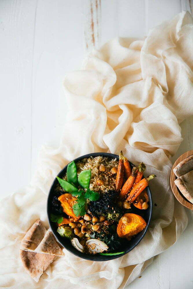 Roasted Veggie Rice Bowl