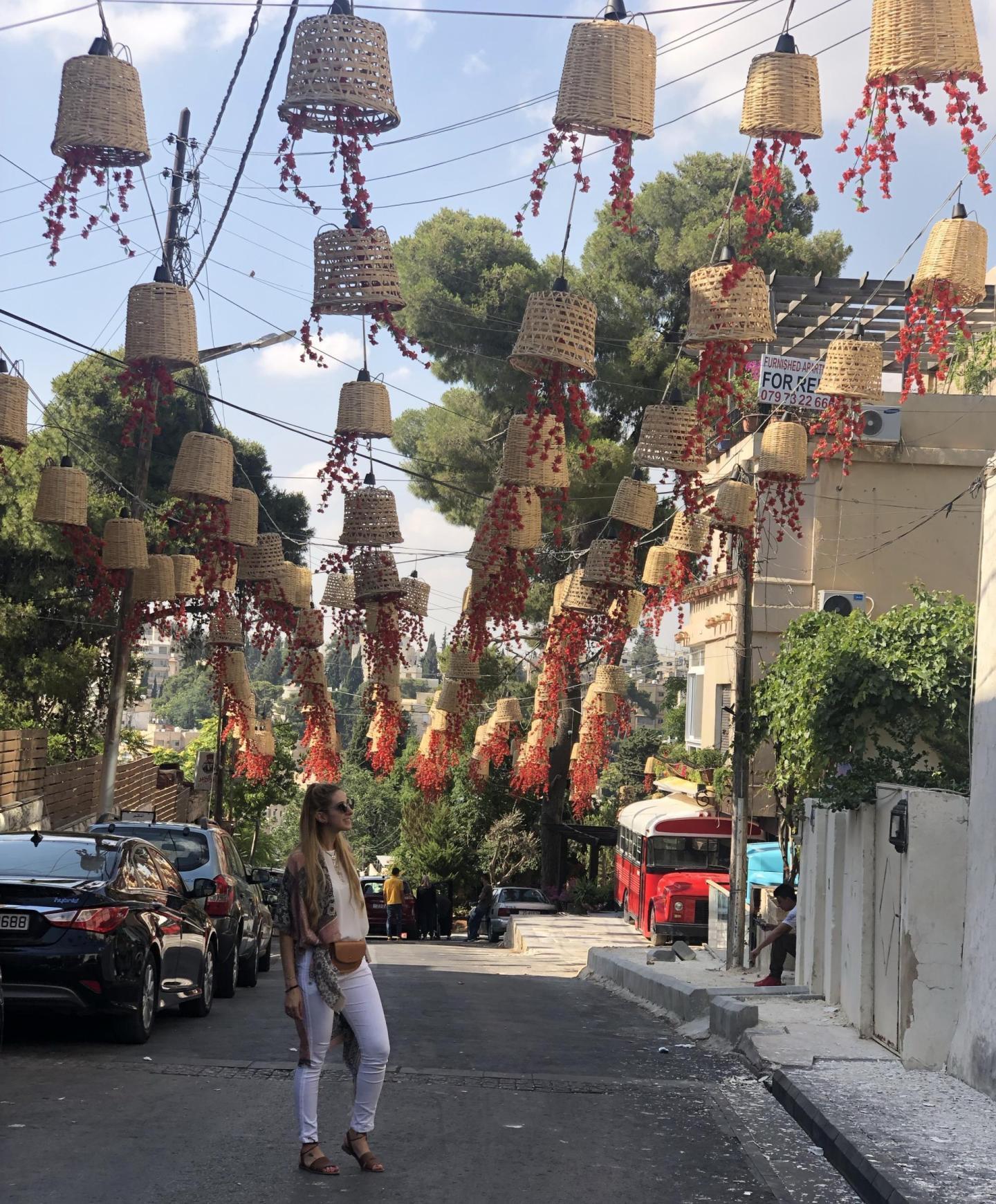 Woman walking the streets of Jordan.
