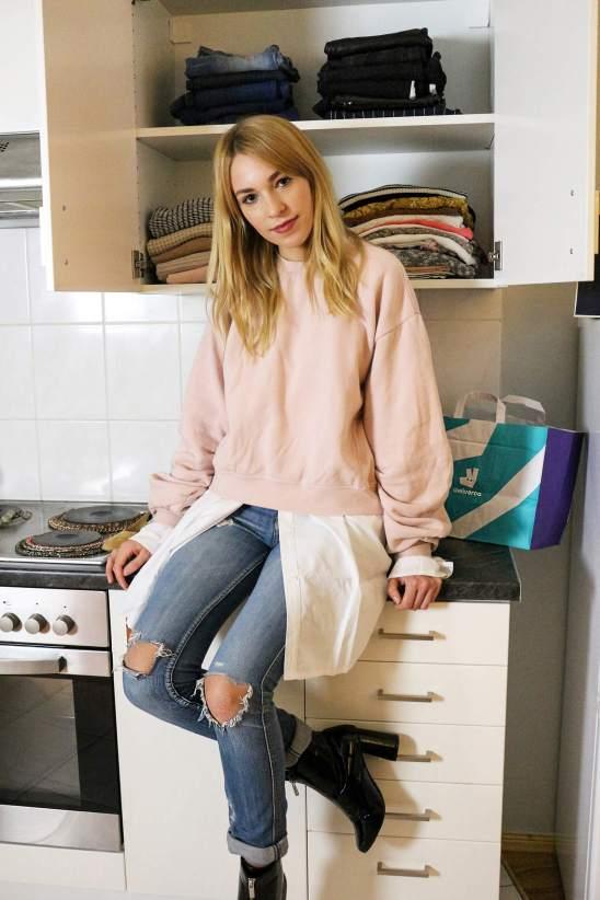 Küchenschränke als Kleiderschrank