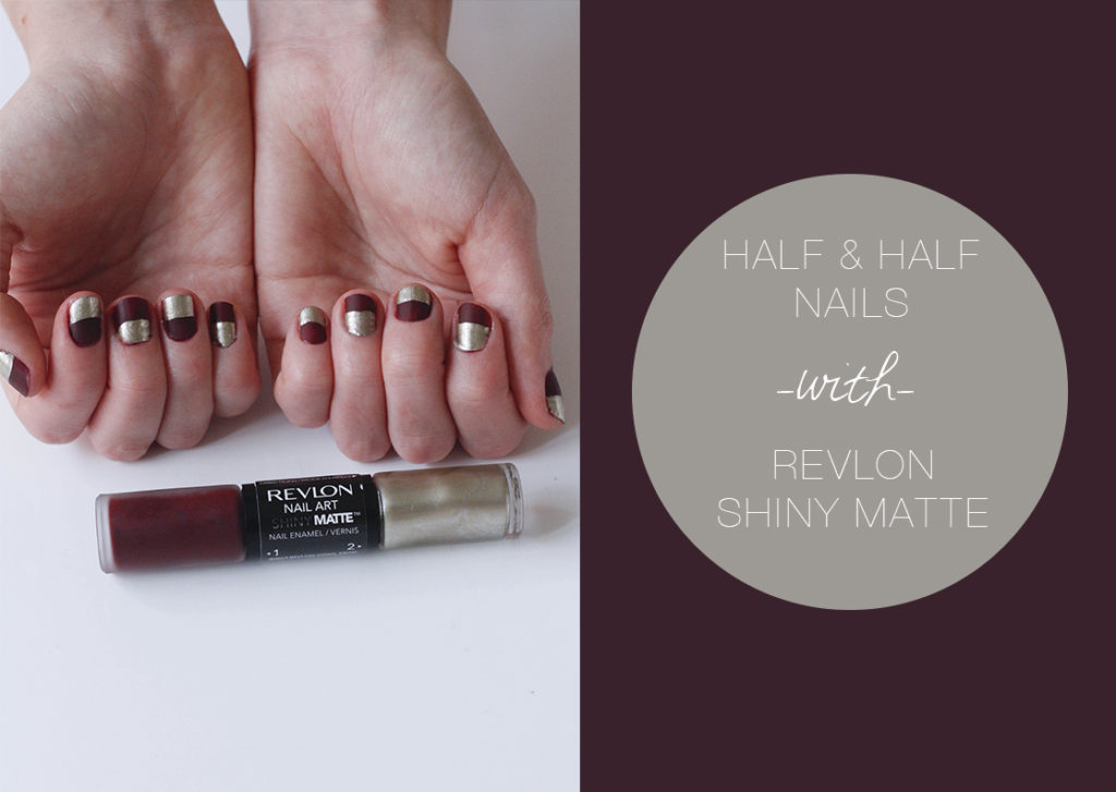 Half Nails With Revlon Shiny Matte