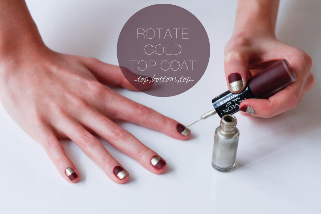 Half Nails With Revlon Shiny Matte