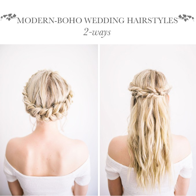 diy modern-boho wedding hairstyles | the blondielocks | life