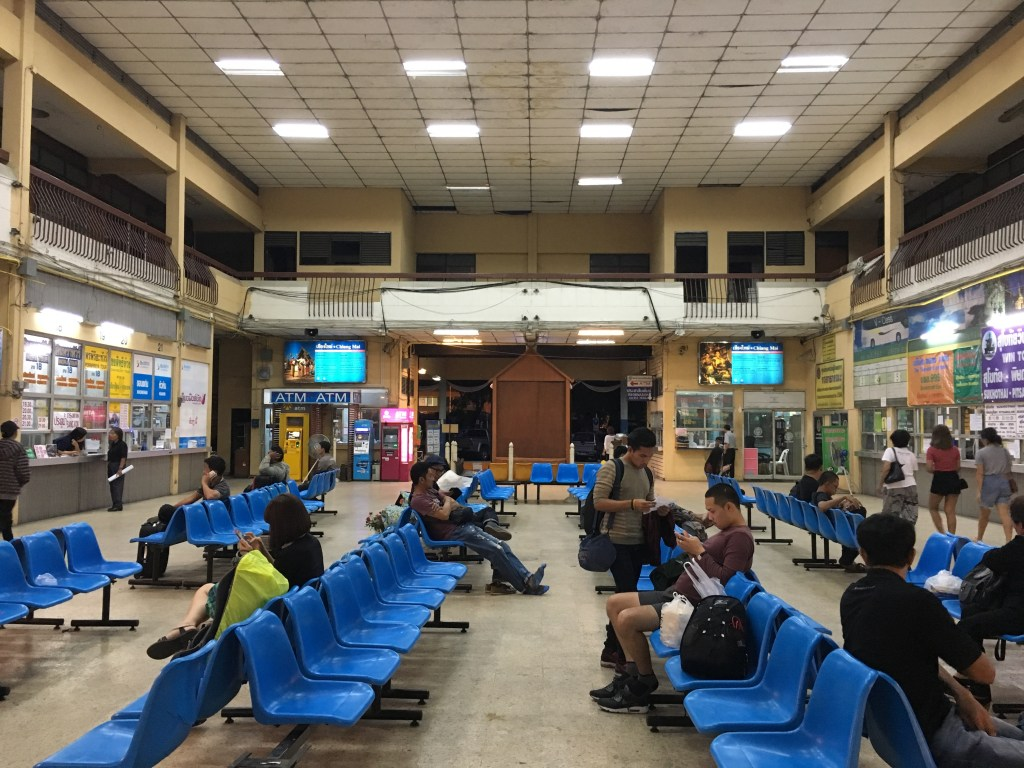 Arcade Bus Station, Chiang Mai, waiting room