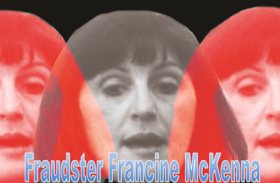 FRANCINE MCKENNA, INDICTED FOR FRAUD, FAKE IDENTITY, FAKE CPA CAPTURED