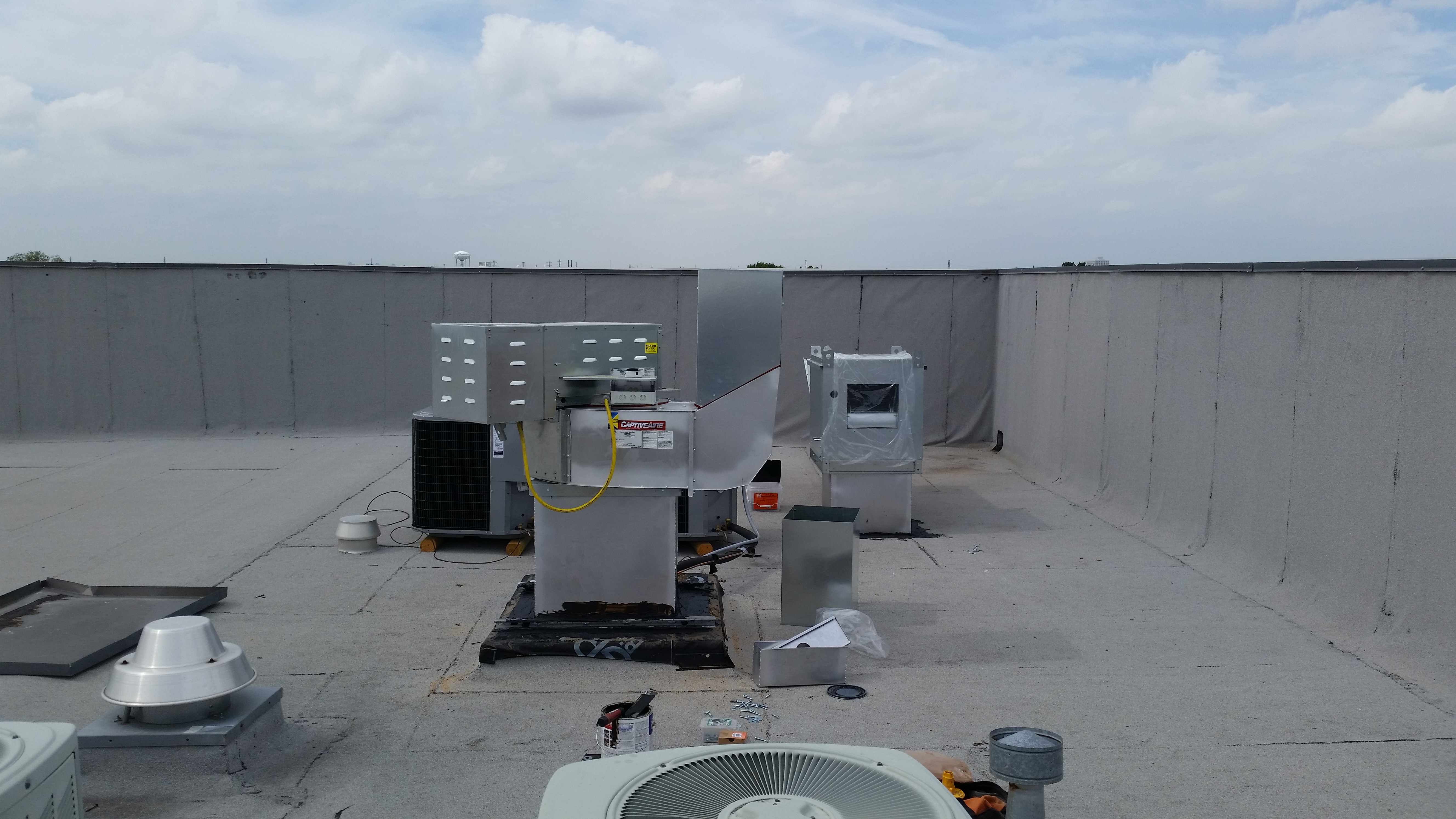 commercial kitchen hood installation white curtains vent tech hoods plano texas proview install