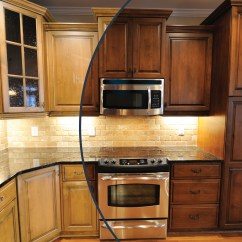 Kitchen Cabinet Stain Colors Target Storage Staining Wooden Cabinets Roselawnlutheran