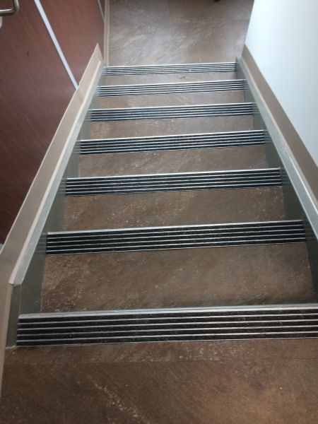 Specialized Building Systems Llc Video Image Gallery Proview | Concrete Filled Metal Pan Stairs | Staircase | Wood | Edge | 5 Flight | Detail