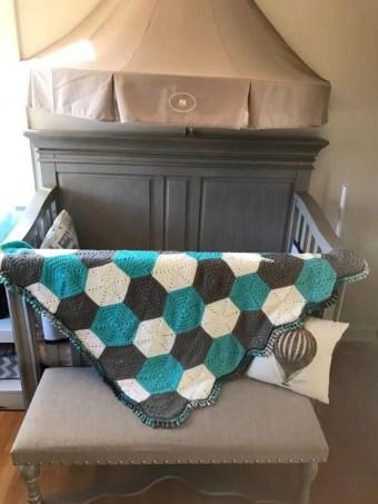 Hexagon Baby Blanket Rameez