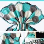Hudson Blanket Modern Hexagon Baby Blanket Pattern