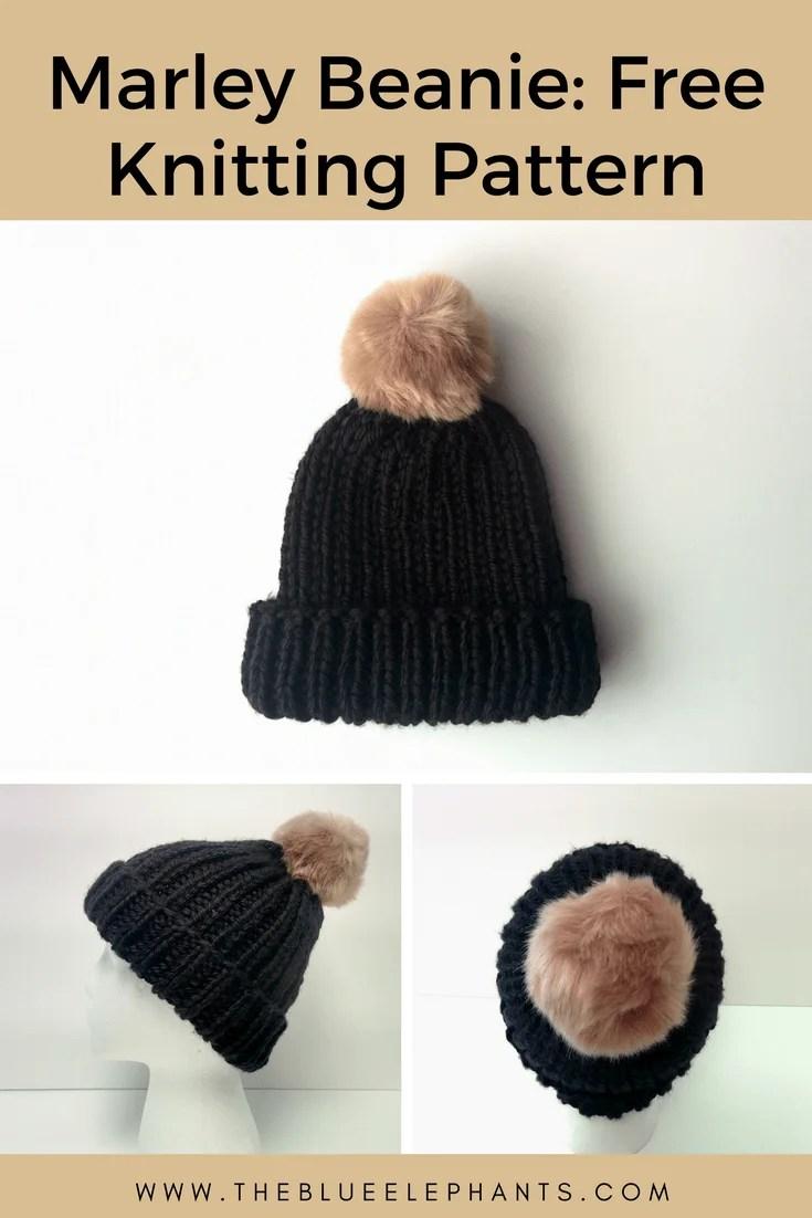 Marley Beanie: 1-Hour Free Beanie Knitting Pattern |