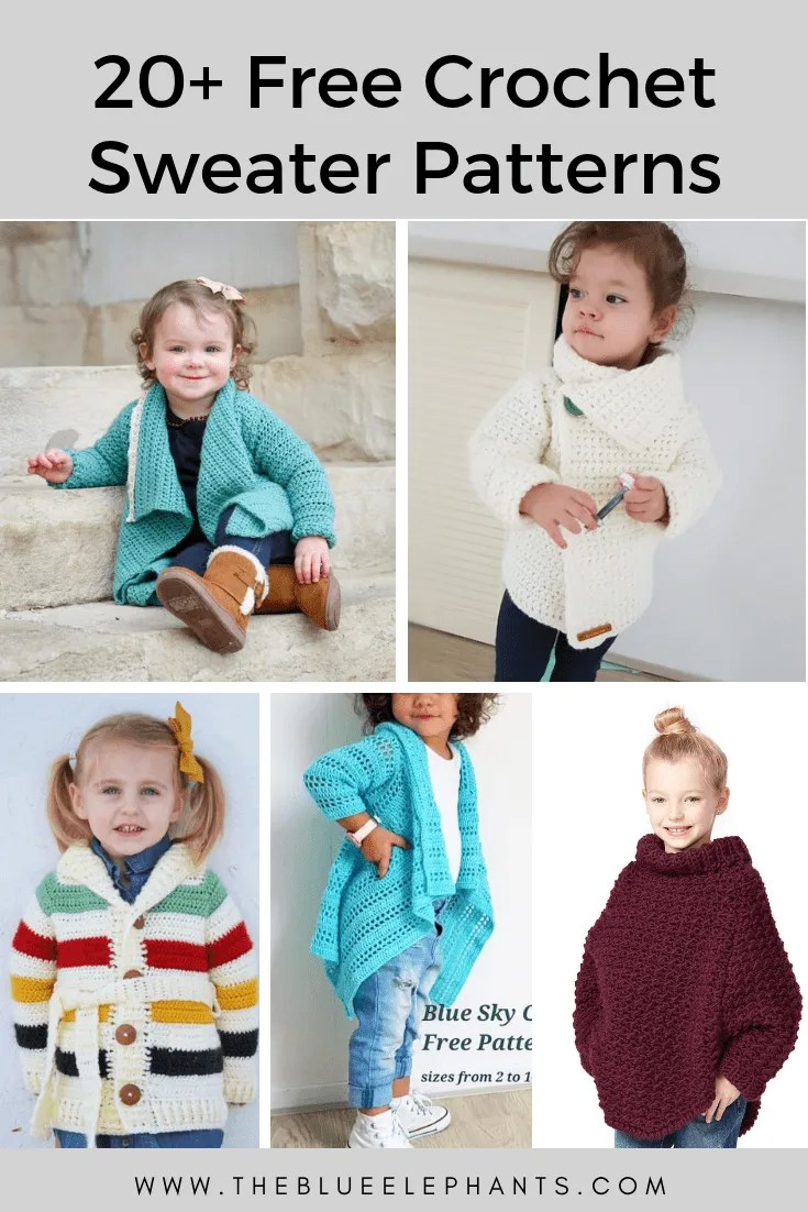 Free Crochet Sweater Patterns For Toddlers The Blouse