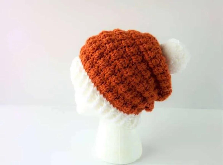 Pumpkin Spice Beanie: Easy Double Crochet Beanie Pattern  