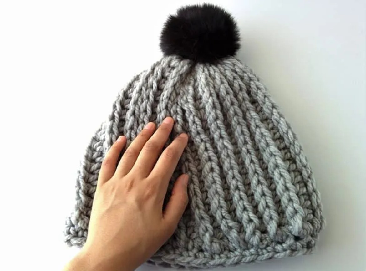 Madeline: Chunky Ribbed Beanie Free Pattern |
