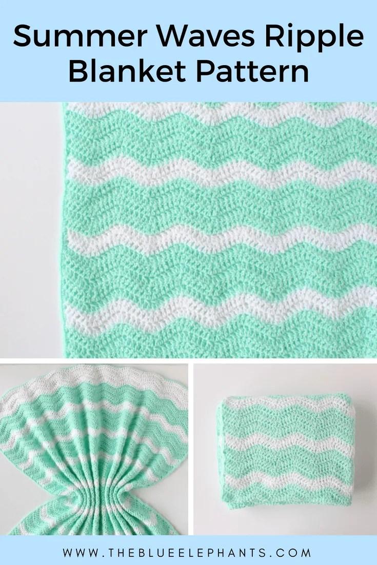 Summer Waves Baby Blanket: Lightweight Ripple Crochet Pattern |