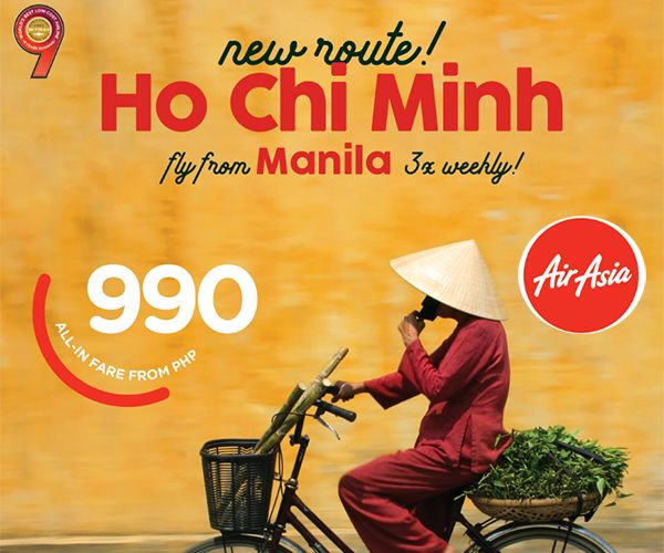 AirAsia To Fly Manila-Ho Chi Minh City In November 2017
