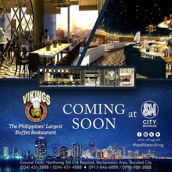 Vikings Bacolod Coming Soon At SM City Bacolod!