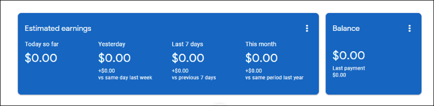 adsense new dashboard