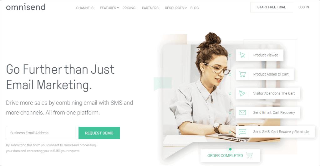 Email Marketing Software: Omnisend Dashboard