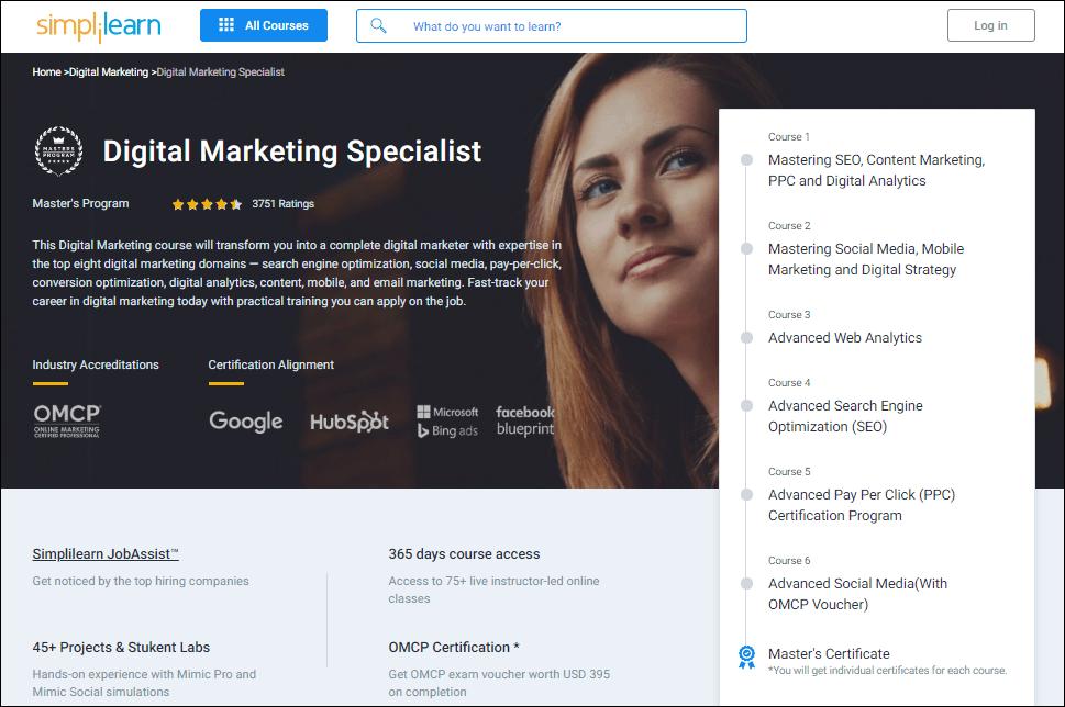 Simplilearn digital marketing course