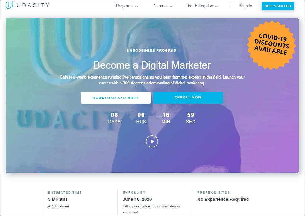Udacity Digital Marketing Course