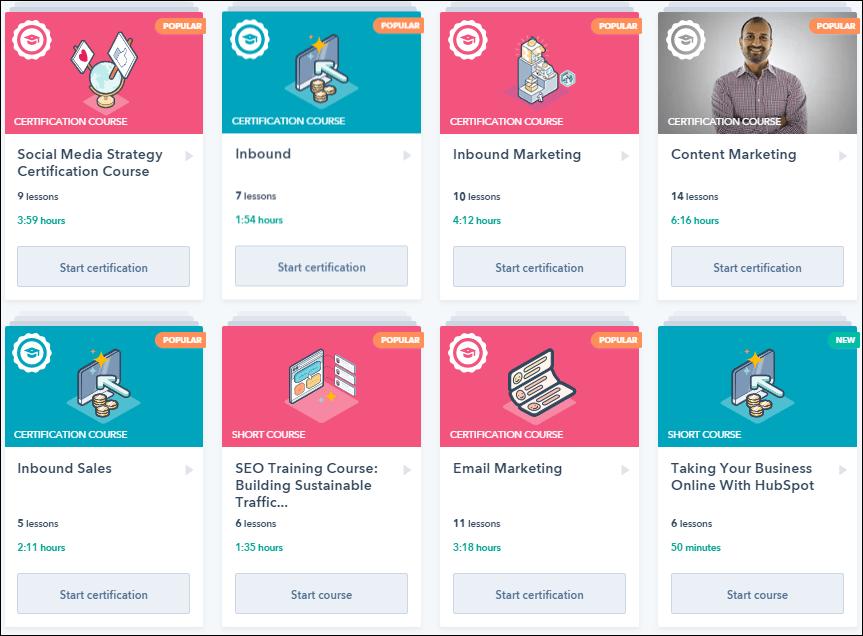 hubspot digital marketing course