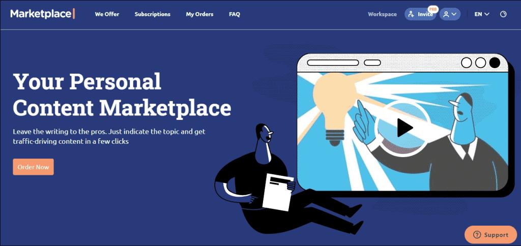 SEMrush content market place