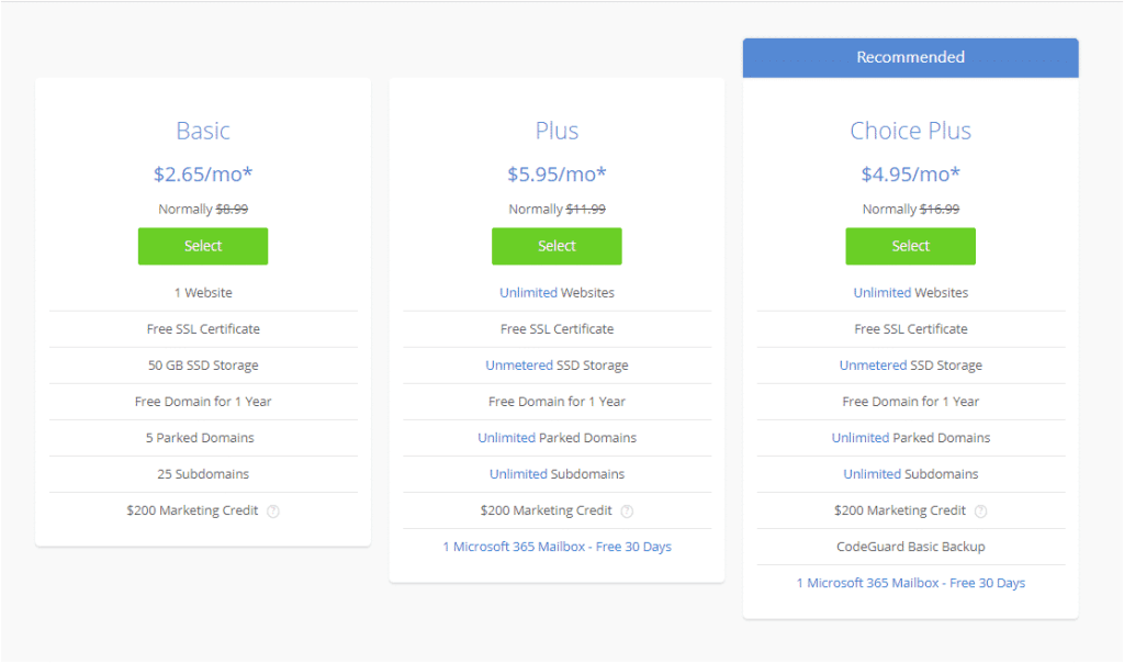 Bluehost shared hosting - %title%- The Blue Oceans Group