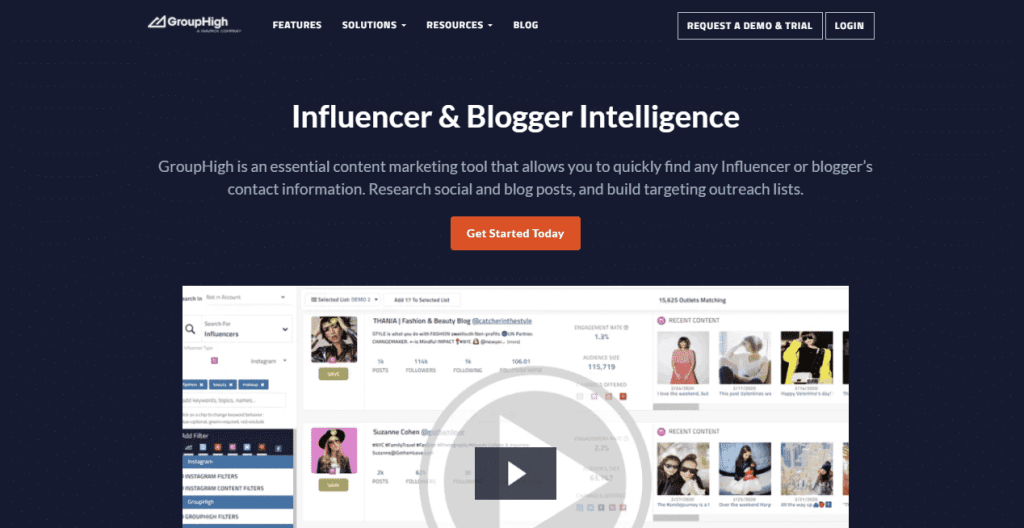 GroupHigh Link Building Software and Tools- Find Influencers and Bloggers