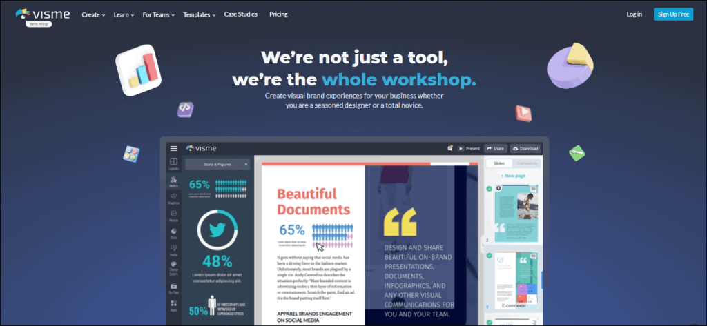 Visme Infographic tool - %title%- The Blue Oceans Group