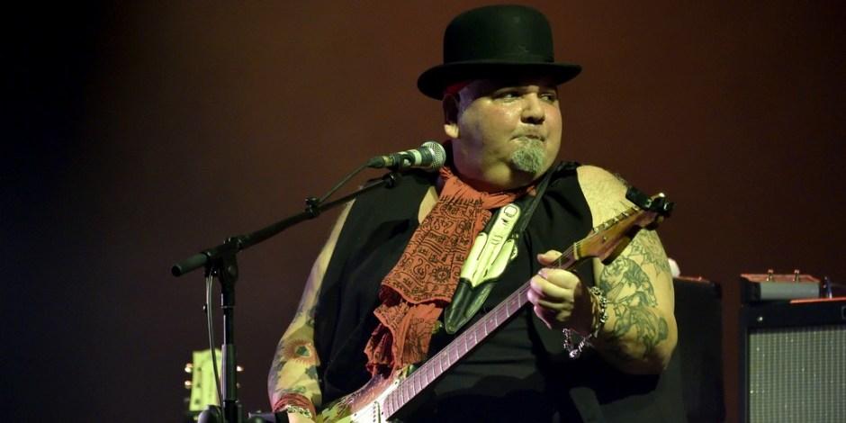 American blues singer and guitarist Popa Chubby (his name is Ted Horowitz) performs live at Olympia. Paris, France - 15/03/2015/SADAKA_sada005/Credit:SADAKA EDMOND/SIPA/1503301806