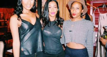 (From left to right) Danielle, Fashion Director, Nneka, owner of Privately Sampled and Morgan, co-owner of Mila & Fire Vintage