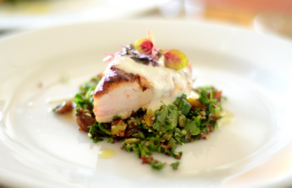 chicken paprika tabbouleh, st lucia