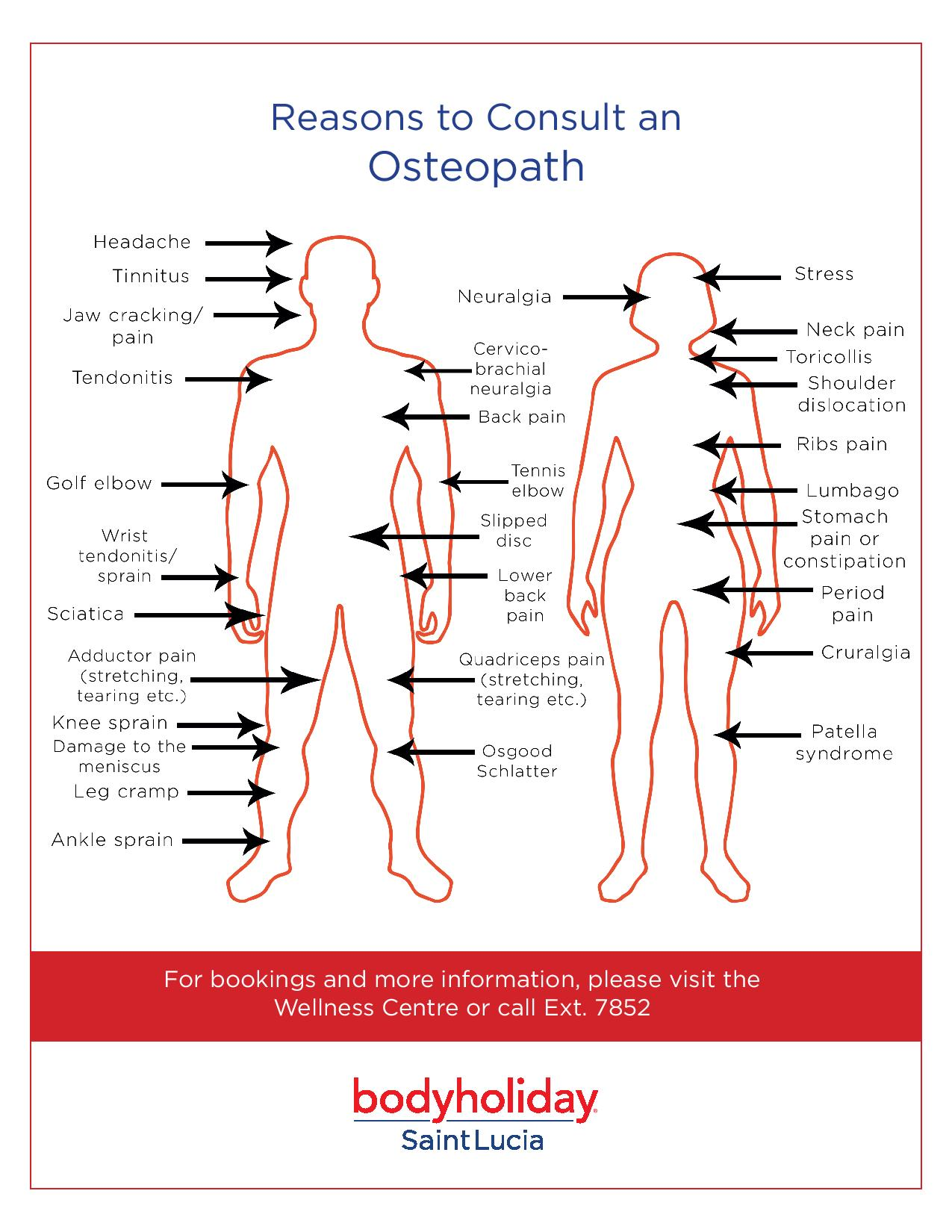 hight resolution of osteopath chart and reasons to visit them at bodyholiday