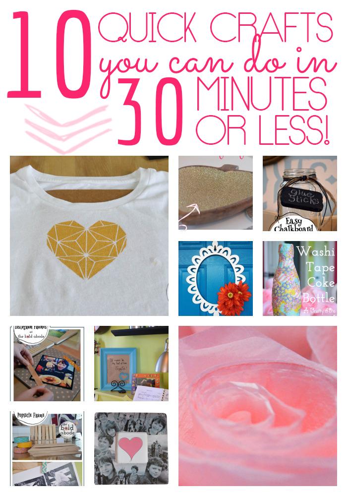 10 easy craft ideas