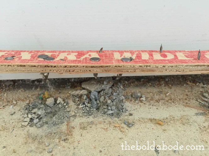 How To Repair Carpet Tack Strip Holes In Concrete Floors
