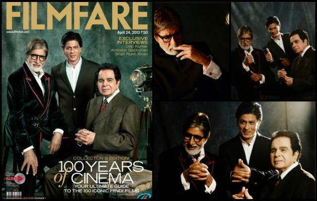Shahrukh Khan unveiled the cover page of Filmfare magazine's special edition