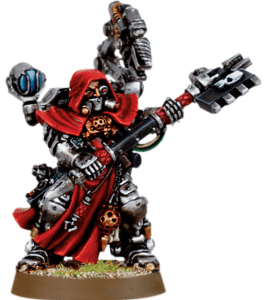 A standard Enginseer, available at Games Workshop.