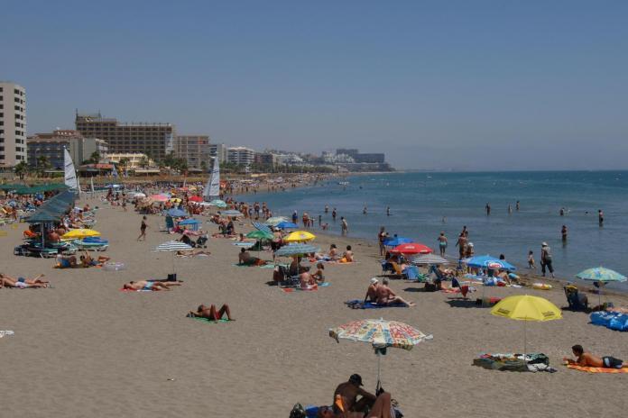 The Bolton News: Costa del Sol beach near Torremolinos