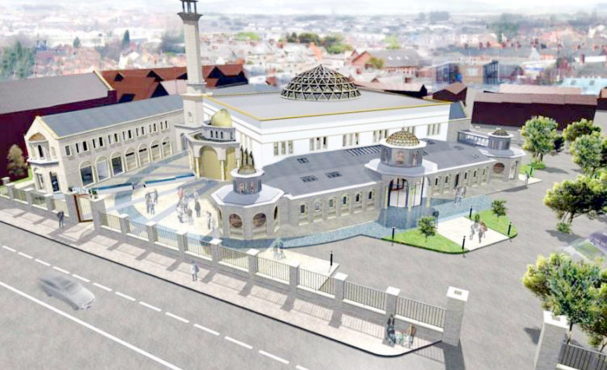 An artist's impression of the new mosque planned in Blackburn Road, Astley Bridge