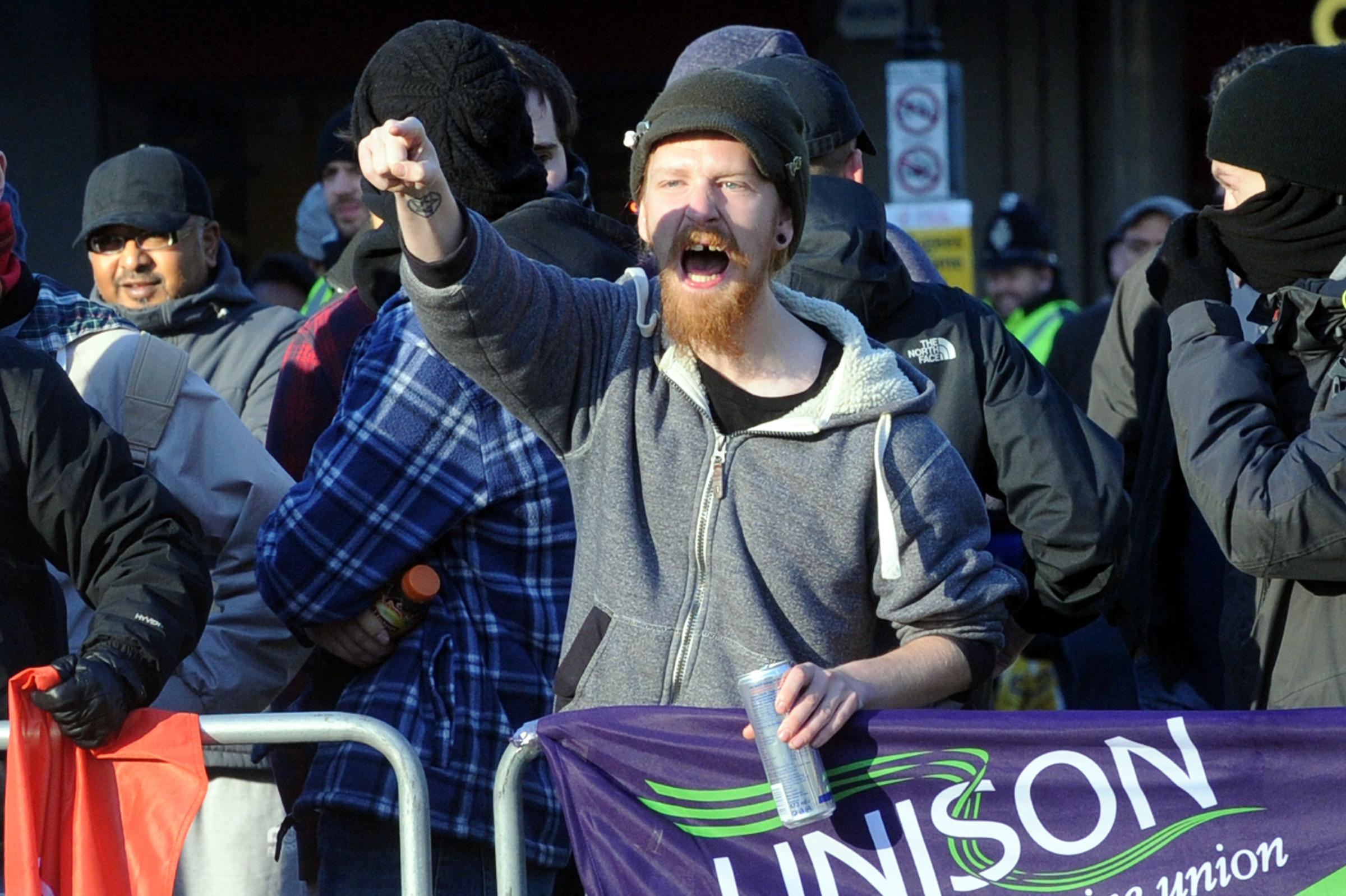 Communist extremist from UAF supporting new Bolton mega mosque