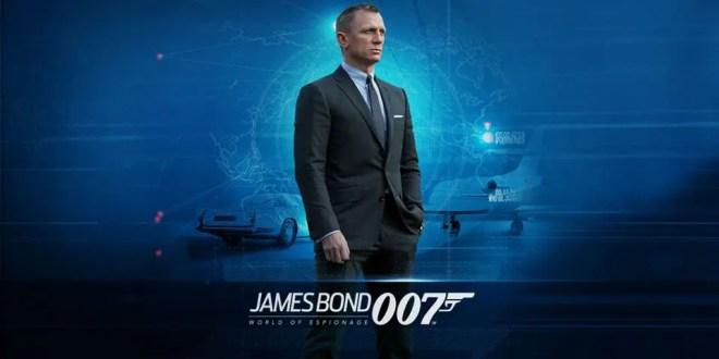 JAMES BOND: WORLD OF ESPIONAGE © 2015 Metro-Goldwyn-Mayer Studios Inc. and Danjaq, LLC.  James Bond: World of Espionage, game design and software, © 2015 Glu Mobile Inc. All rights reserved.