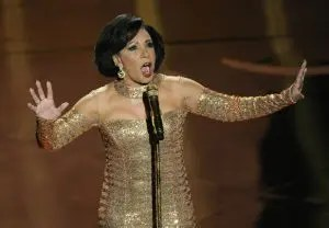 Shirley Bassey performing GOLDFINGER at the 2013 Academy Awards
