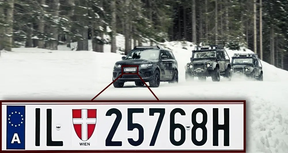 SPECTRE Austria number plate goof